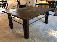 Hand made table.  Wood and iron