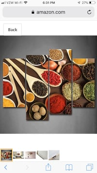 Wall hanging picture Spices 453 mi