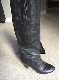 pair of black leather knee-high boots Kelowna, V1V 2C9