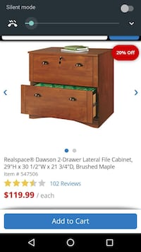 brown wooden realspace dawson 2-drawer lateral fil