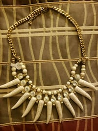 brown and silver beaded necklace Palmdale