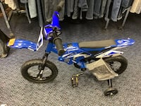 "New 12"" Blue Yamaha Bike With Training Wheels"