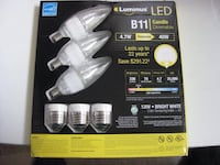 LED - B11 new in box -$18, LED B11 slightly used (have6) - $5 each, LED MR 16 dimmable -$5 each, Halogen MR16 used (16 bulbs) - $3 each Calgary, T2Y 3J8