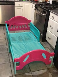 Toddler's pink and turquoise  bed frame Bakersfield, 93306