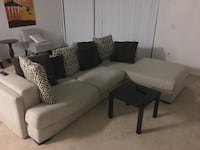 gray fabric 3-seat sofa Boca Raton, 33434