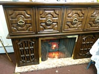 Vintage Fireplace Console with storage cabinets 47 km