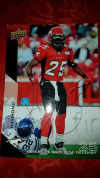 Stampeders Raymond Signed Card