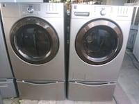 white front load washing machine and dryer Indio, 92201