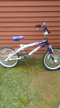 white and purple BMX bicycle Frederick