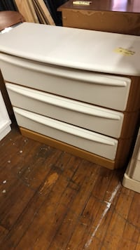 White and Oak Chest of Drawers