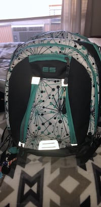 green and white floral backpack Bunker Hill, 25413