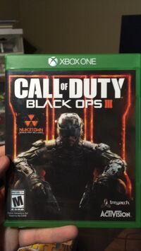 Call of Duty Black Ops 3 Xbox One game case 3118 km