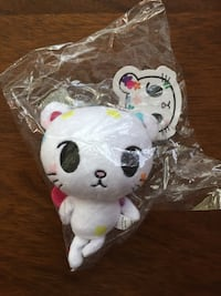 New TOKIDOKI keychain with sticker white floral cat collectible Fairfield, 94534