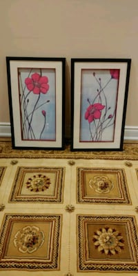 two red petaled flowers paintings Mississauga
