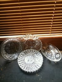 Crystal side plates and bowls 936 mi