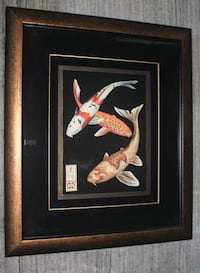 Large framed Koi Print