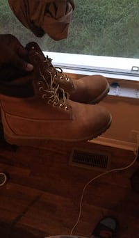 pair of brown Timberland work boots Augusta, 30906
