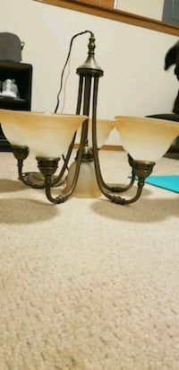 two brown-and-gray metal candle holders Haysville, 67060