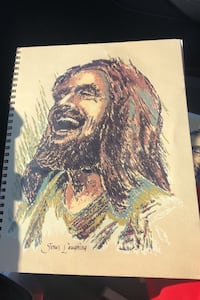 Framable Jesus Laughing cover of Your Smile is Slipping by James Gills Manchester, 03103