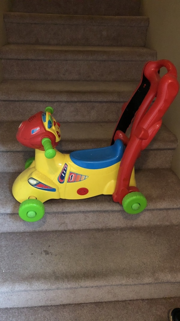 Toddler's red and yellow ride-on toy