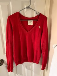 3/$30 Red Abercrombie and Fitch Sweater  Toronto, M6H 1X9