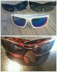 brown framed sunglasses with case 3500 km