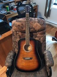 Brown burst acoustic guitar Saint-Constant, J5A