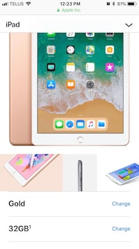 gold IPAD Air 32GB with Retina display unlocked Brampton, L7A 0G6