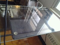 rectangular clear glass top table with black metal base Mississauga, L5A 1A5