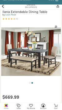 Llana extendable dining room table