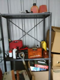 steel shelves..4-5 shelves in a angle steel frame Sioux Falls, 57104