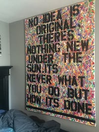 6ft by 4ft large abstract stencil painting Toronto, M4L