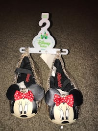 6-9 month old Mini Mouse Slip ons