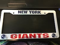 Plastic NY Giants license plate cover. Never used Calgary, T2Z 3W7