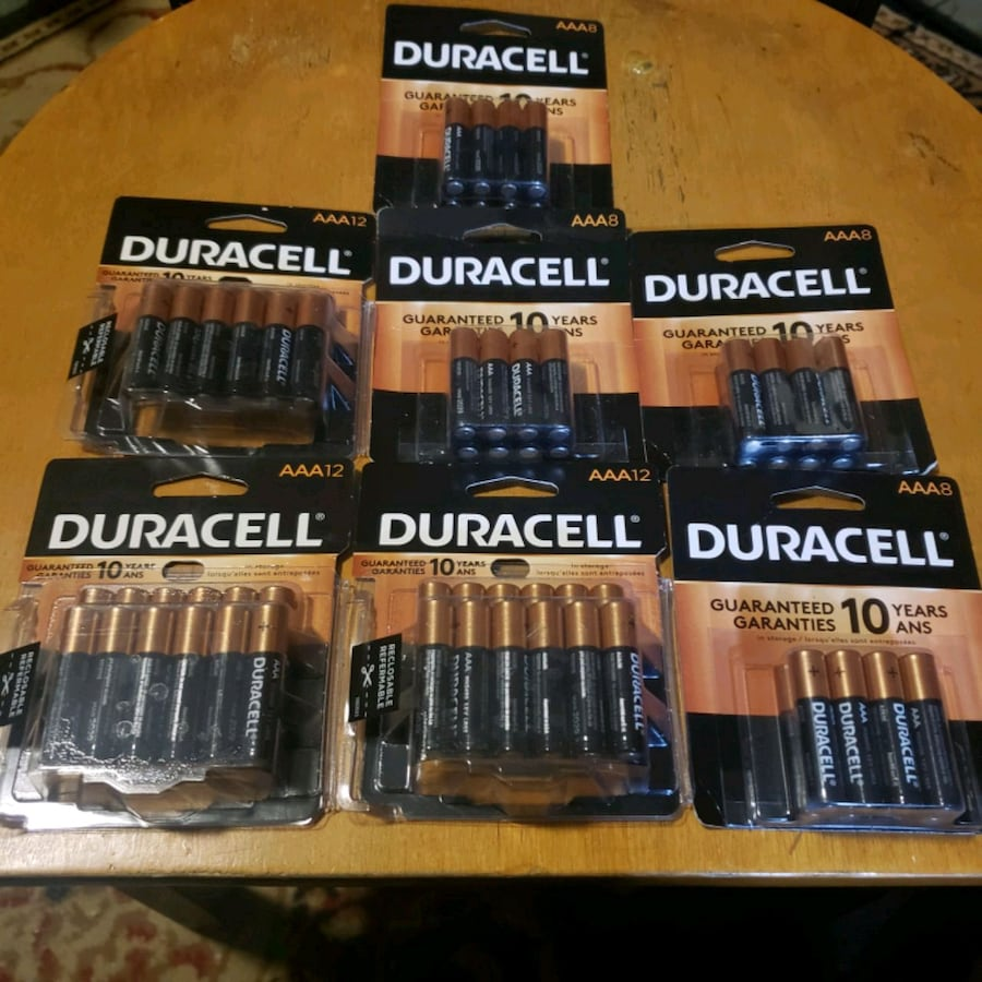 7 packs of Duracell AAA batteries