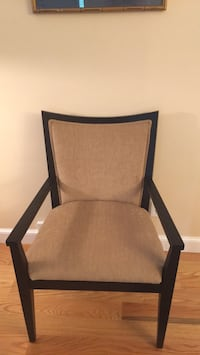Ebony wood frame with gold fabric. Set of 2. Very clean and sturdy 516 mi