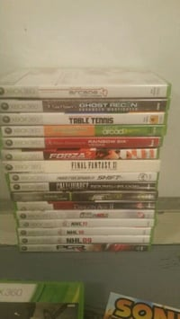 Used XBox 360 16 GAME LOT 3134 km