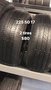 225 50 17 only 2 tires  Vaughan, L4L 3T4