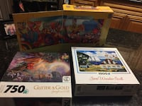 Puzzles, 3 ft' panoramic, glitter and gold, & Covington, 70433
