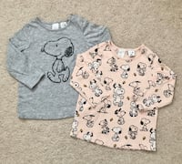H&M snoopy tees size 9-12 months  Mississauga, L5M 0H2