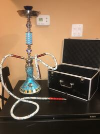 Ceramic Mosaic Hookah with double hoses 43 km