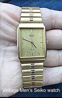 Vintage Seiko men's watch.  I just put in a new battery and it runs great.  Like new.  Great looking.  Watch video at: https://youtu.be/caSHoLLRIWY Great for the watch collector in your life.