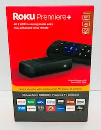 Roku Premiere 4K and HDR w/ Voice Remote- Brand new and unopen