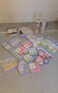 Baby shower ( girl ) party supplies (all new in package ) Moonstone, L0K 1N0
