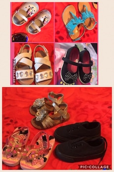 Toddler shoe and sandal lot sizes 5-6c