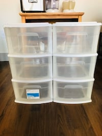 3-drawer storage cart white with wheels (2 for sell)
