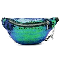 Blue sequin fanny pack Washington