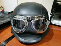Half helmet with goggles Falls Church, 22042
