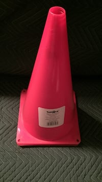 Red toy's r us plastic traffic cone toy