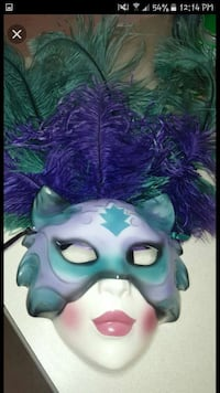 white and teal masquerade mask Lehigh Acres, 33973